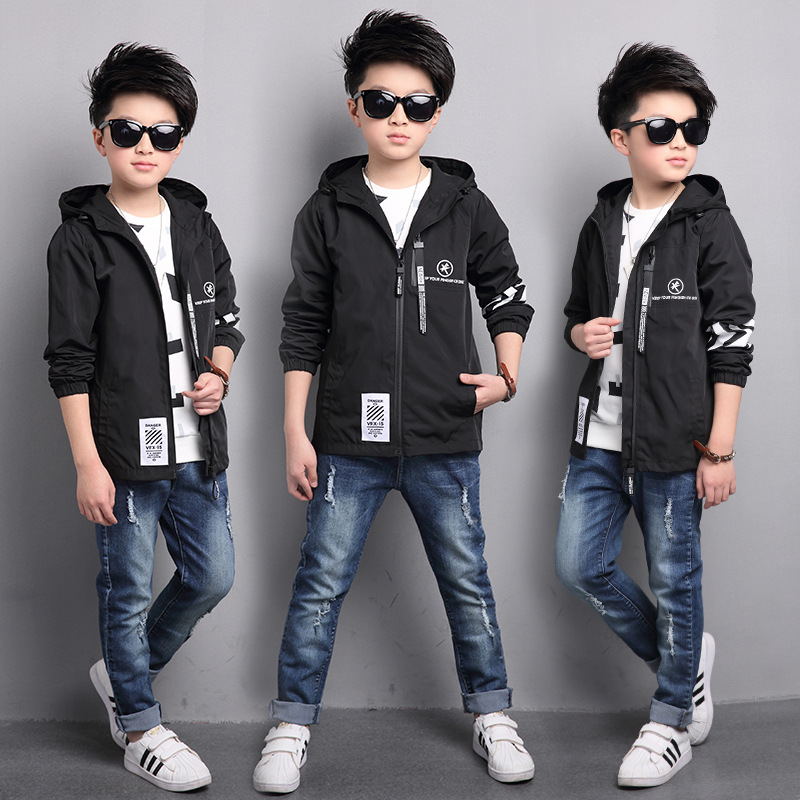 ФОТО Kids boys spring / autumn zipper jacket 2017 new baby boys fashion clothing big virgin hooded coat 4/5/6/7/8/9/10/11/12/13/14