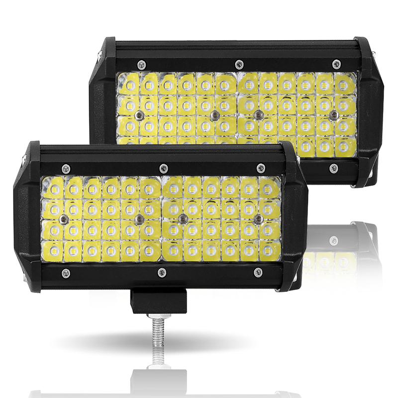 """Image 3 - LED Work Light 7""""12V Led Beams 144W Led Bar Car Off road 4x4 Flood Spotlight Accessories for Motorcycle SUV ATV Tractor led ramp-in Light Bar/Work Light from Automobiles & Motorcycles"""