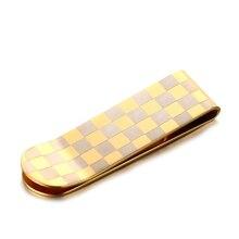 Minimalist Titanium Steel Men Wallet Money Clips Coin Pocket Symbol Money Holder Gold New Money Clip Card Dollar Cash Clamp