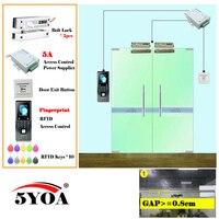 Отпечатков пальцев лица Система контроля доступа Smart дверные замки безопасный комплект электронных ворот дома, в гараже комплект Электриче