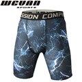 De alta calidad 3D impresión Digital Casual Hombres Pantalones Cortos de Compresión Cortos Coolmax de Secado rápido de Los Hombres Elásticos