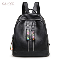High Quality String Backpack Shoulder Lady Women S School Bags Japan And South Korea Style Leather
