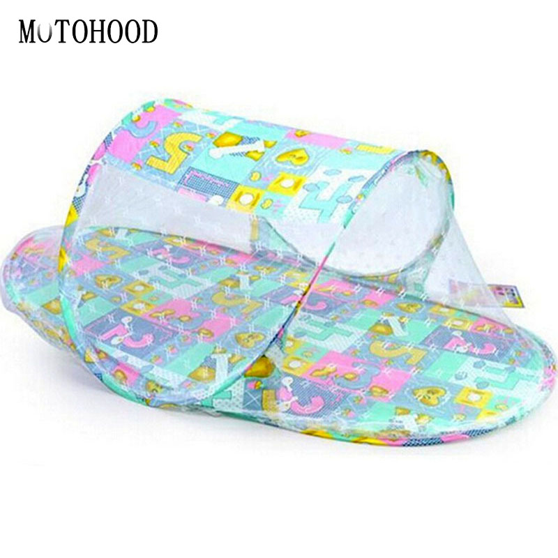 MOTOHOOD Convenient Portable Baby Crib With Netting Outdoor Newborn Baby Play Tent Breat ...