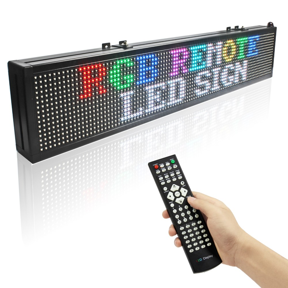 P7.62 RGB Led Display 16128 Dots Matrix Remote Control Programmable Scrolling Message Display Board Indoor Used1