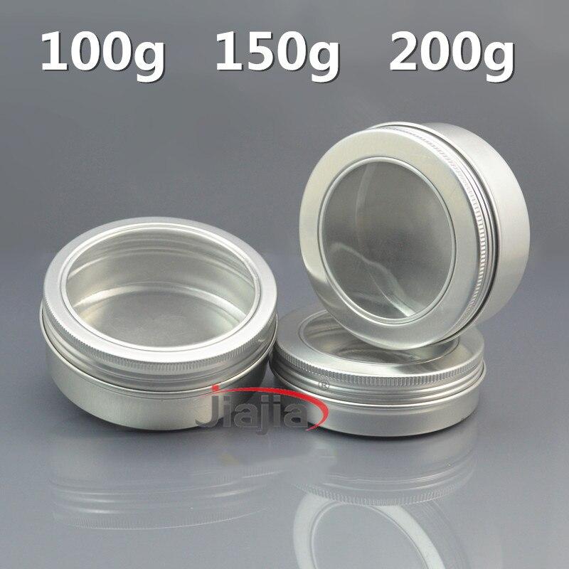 100g bijela aluminijska boca kozmetička krema jar 100ml prazan vosak - Alat za njegu kože - Foto 4