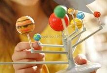 Teenage children kids scientific science educational models experimental toy materials DIY assembling solar system planet ARIUM