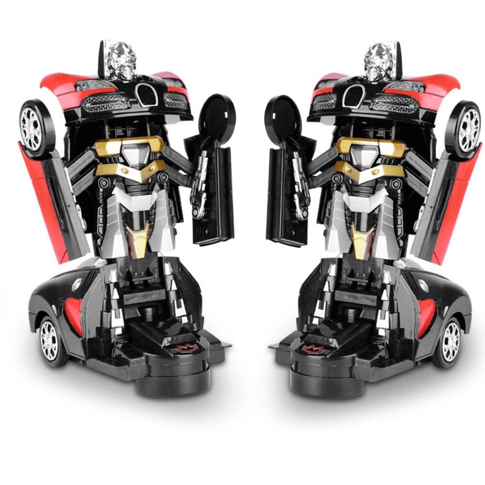 Electronic Deformation Music Car Toys Cool Light Transformer Robot Car Toys Univeral Wheel Glowing Kids Children