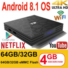 Android 8.1 Smart TV Box VONTAR T9 4GB RAM 32GB/64GB ROM Roc