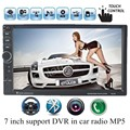Car Stereo MP5 Radio MP4  2 DIN in Dash 7 inch Touch Screen Player 10 langauges bluetooth Auxin input steering wheel control