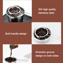 1 шт. дизайн крючка из нержавеющей стали чаша масло Шоколад плавильный горшок нагревательная ложка сковорода FPing