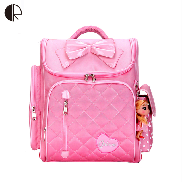 bfe76b6c8531 Cute Orthopedic backpack Children School Backpacks Draw Bar School Bag Pink  Zipper Backpack For Kids Girls Mochila Infantilt