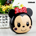 Bonito minnie mickey dos desenhos animados 6000 mah power bank para iphone android telefone mickey mouse portátil backup carregador de bateria externa