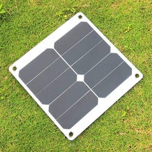 Wholesale 50PCS/Lot 10W 5V Solar Panel Charger Portable Solar Cell Charger Sunpower Efficiency > 17% Travel Kits 75*270mm