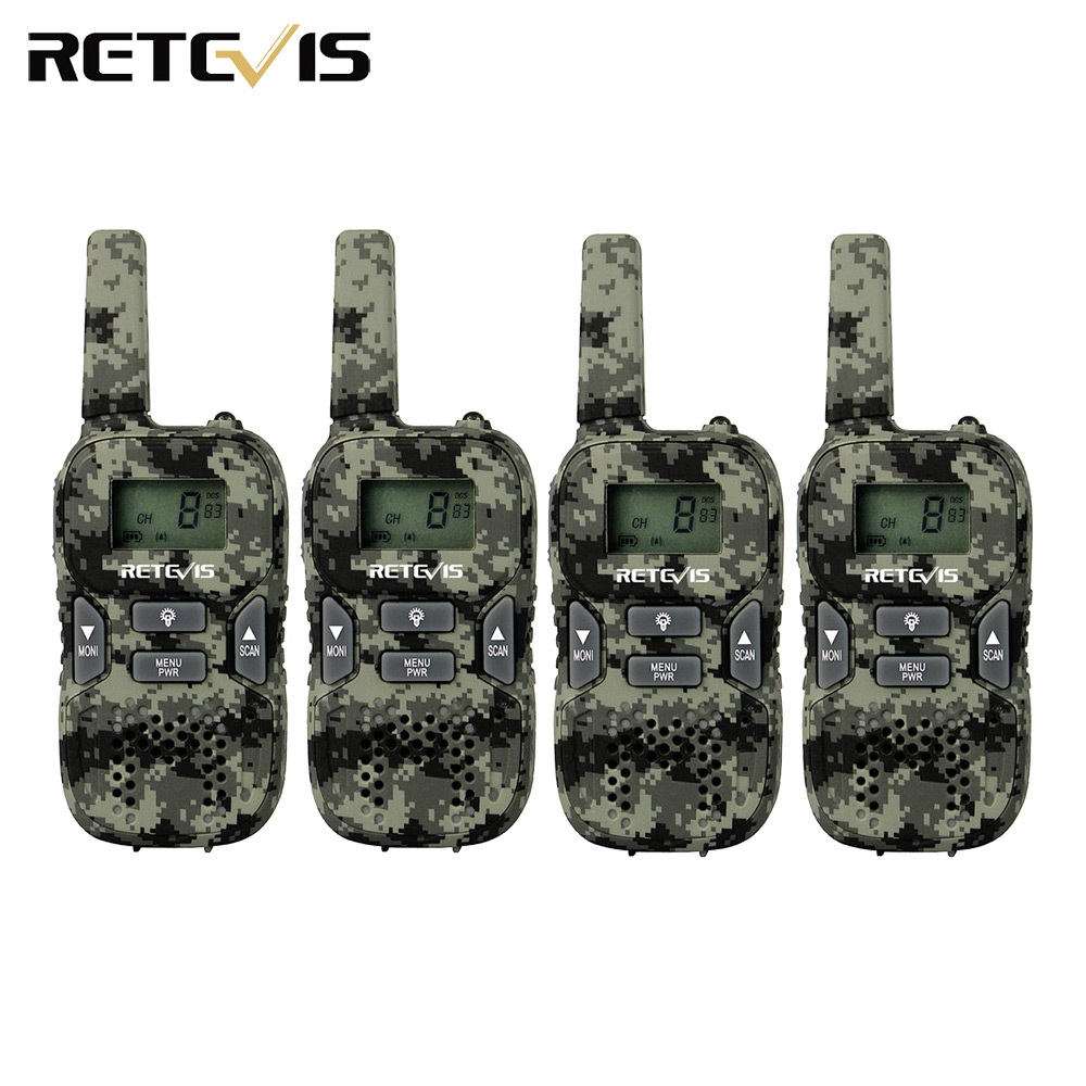 Retevis RT33 Children Walkie Talkie 4pcs Kids Radio 0.5W PMR Frequency Portable Support USB Charging Ham Radio Hf Transceiver
