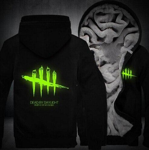 Wholesale thickened hoodie Hoodies wholesale NEW Men Women Dead by Daylight Luminous Jacket