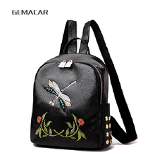 New Embroidered Fashion Womens Backpack Casual Shopping Girl  Bag Elegant Personality Young Youth Small rucksack