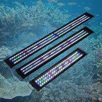 US Plug Waterproof LED Aquarium Lights Fish Tank Light Bar Blue 60/90/120CM Submersible Underwater Clip Lamp Aquatic Decor