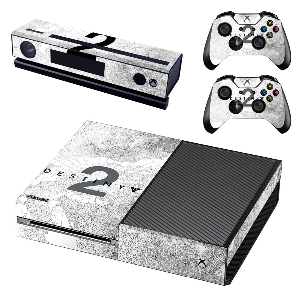 vinyl skin decal cover for microsoft xbox one console wrap sticker skins with two free wireless. Black Bedroom Furniture Sets. Home Design Ideas