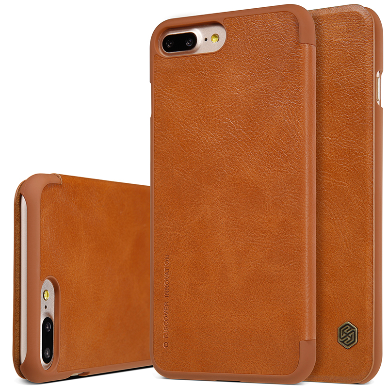 NILLKIN För Apple iPhone 7 Plus Väska Högkvalitativt läderfodral - Reservdelar och tillbehör för mobiltelefoner - Foto 3