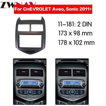 Xe Máy Nghe Nhạc DVD khung Cho 2011 + Chevrolet Aveo 2DIN Tự Động AC Đen LHD RHD Đài Phát Thanh Tự Động Đa Phương Tiện NAVI fascia