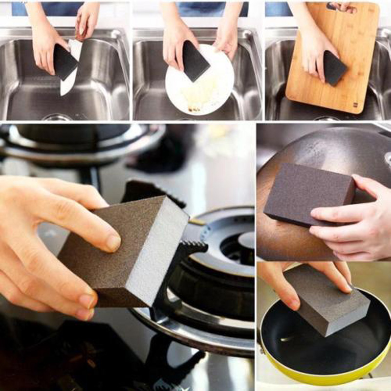 Kitchen Nano Emery Pot Cleaning Cleaner Rust Focal Stains Sponge Removing Tool