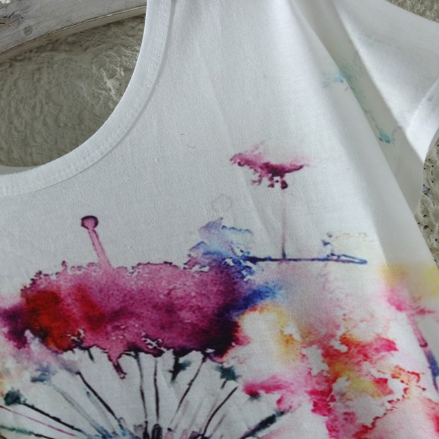 Women Fashion Summer Cute T Shirt Style Cat Print T-shirt