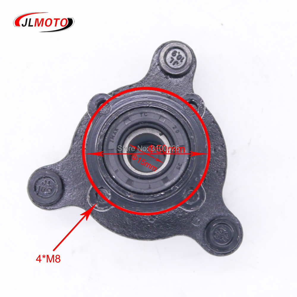 Atv Parts & Accessories Sporting Front 90mm 3*m8 15mm Stud Wheel Hub Fit For 50cc 110cc 125cc Atv 6 7 8 Inch Rim Tire Go Kart Buggy Karting Atv Quad Bike Parts