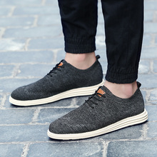 2019 Summer New Vintage Men Casual Shoes Men Business Formal Brogue Weave Carved Oxfords Wedding Dress Shoes Breathable