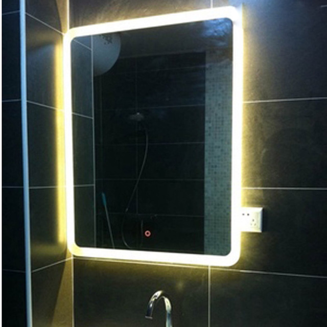 LED Light Mirror Bathroom Mirror Make up Anti fog Waterproof Touch Wall Bathroom Vanity Mirrors Dressing Enjoy Music Bluetooth