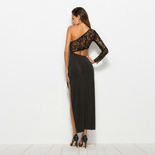 MUXU sundress sexy black lace dress transparent fashion vestidos robe femme long clothing summer backless longue