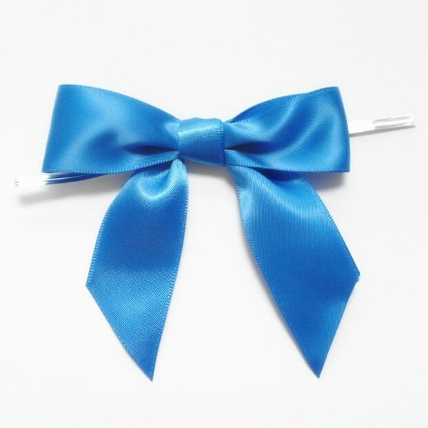 Free Shipping 300pcs Royal Blue Medium Satin Ribbon Bow