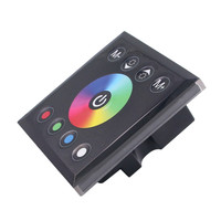 BEILAI DC 12V 24V RGBW LED Controller 4A 4CH Black Tempered Glass Panel Touch Screen Dimmer
