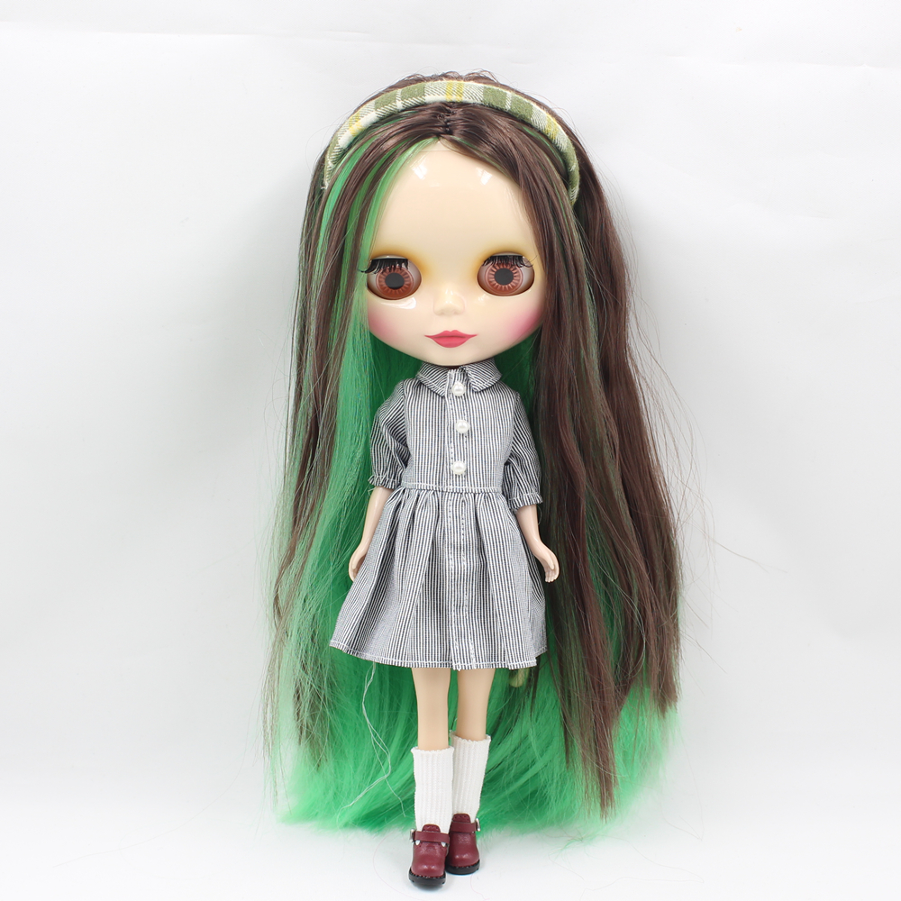 Icy 누드 팩토리 blyth doll series no.280blgreen/1290/0222 그린 믹스 브라운과 로즈 레드 헤어-에서인형부터 완구 & 취미 의  그룹 1