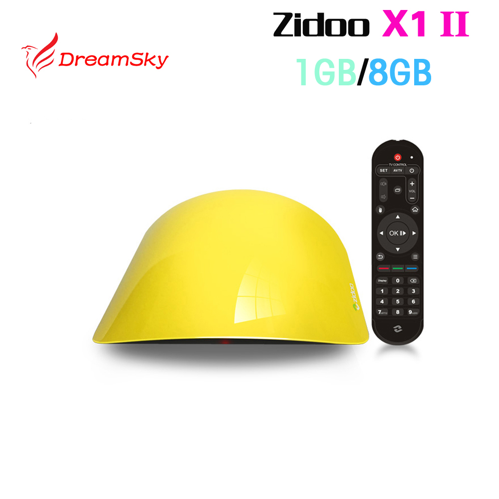 Rockchip 3229 ZIDOO X1 II Android TV Box Quad Core 1G/8G HDMI 4K*2K 802.11 b/g/n LAN Mini PC H.265/HEVCMedia Player zidoo x6 pro tv box 2g 16g android 5 1 rockchip r3368 wifi bluetooth4 0 1000m ethernet gigabit lan