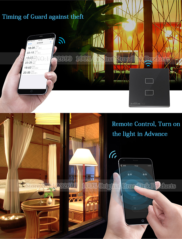 BroadLink 433Mhz Smart Home Wall Light Switch WiFi control from smart phone tc2-2-5-1.jpg