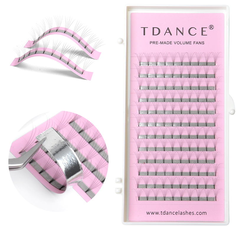 TDANCE Short Stem Premade fans Eyelashes 3d/4d/5d/6d/7d Russian Volume Extensions  Faux Mink Lash Extension make up tools  soft-in False Eyelashes from Beauty & Health