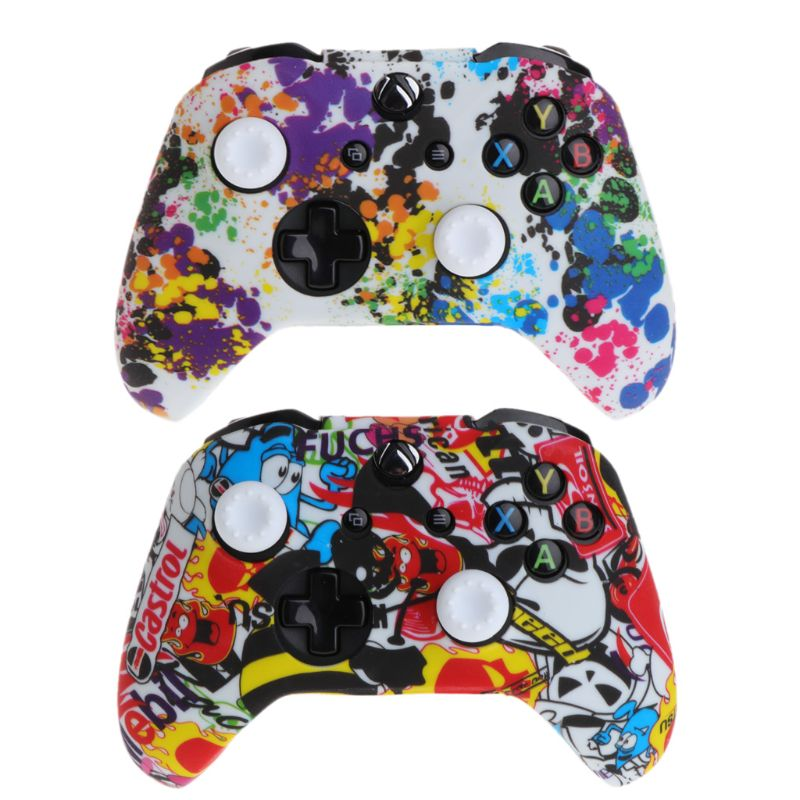 Camouflage Camo Silicone Protective Skin Case Rubber Cover Sleeve for Xbox One X S Controller Protector