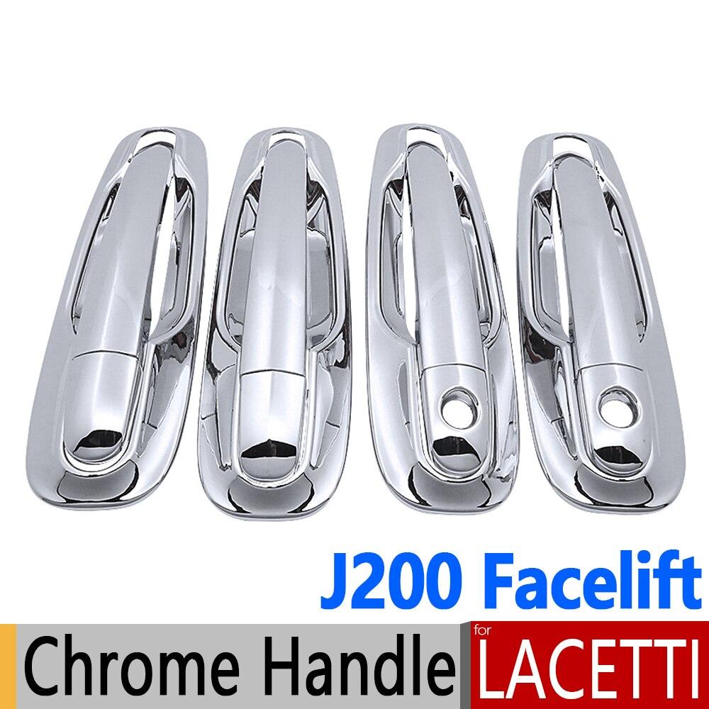 Prix pour Chrome Poignée De Porte Couvre Pour Chevrolet Lacetti Optra Daewoo Nubira Suzuki Forenza Holden Viva J200 Lifting Car Styling