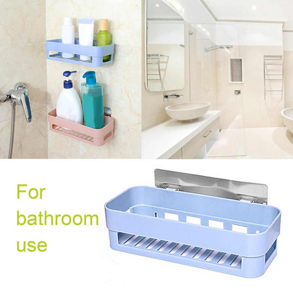 Icoco Shower Rak Kamar Mandi Organizer Hisap Kait Pengisap Pemegang Sikat Gigi Makeup Aksesoris Kamar Mandi Penyimpanan Holder Rak