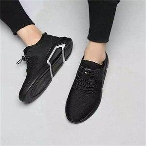 Image 3 - ファッションメンズカジュアルとビジネススニーカーすべりにくいスポーツ靴軽量快適な通気性ウォーキングスニーカー