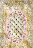 European Classical Marble Gold Pattern Floor Wallpaper Decoration Waterproof Self Adhesive 3d Flooring Murals