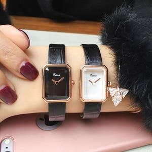 Image 5 - EIMA トップ高級女性レザーストラップクォーツ腕時計ファッション腕時計 Feminino Relojes