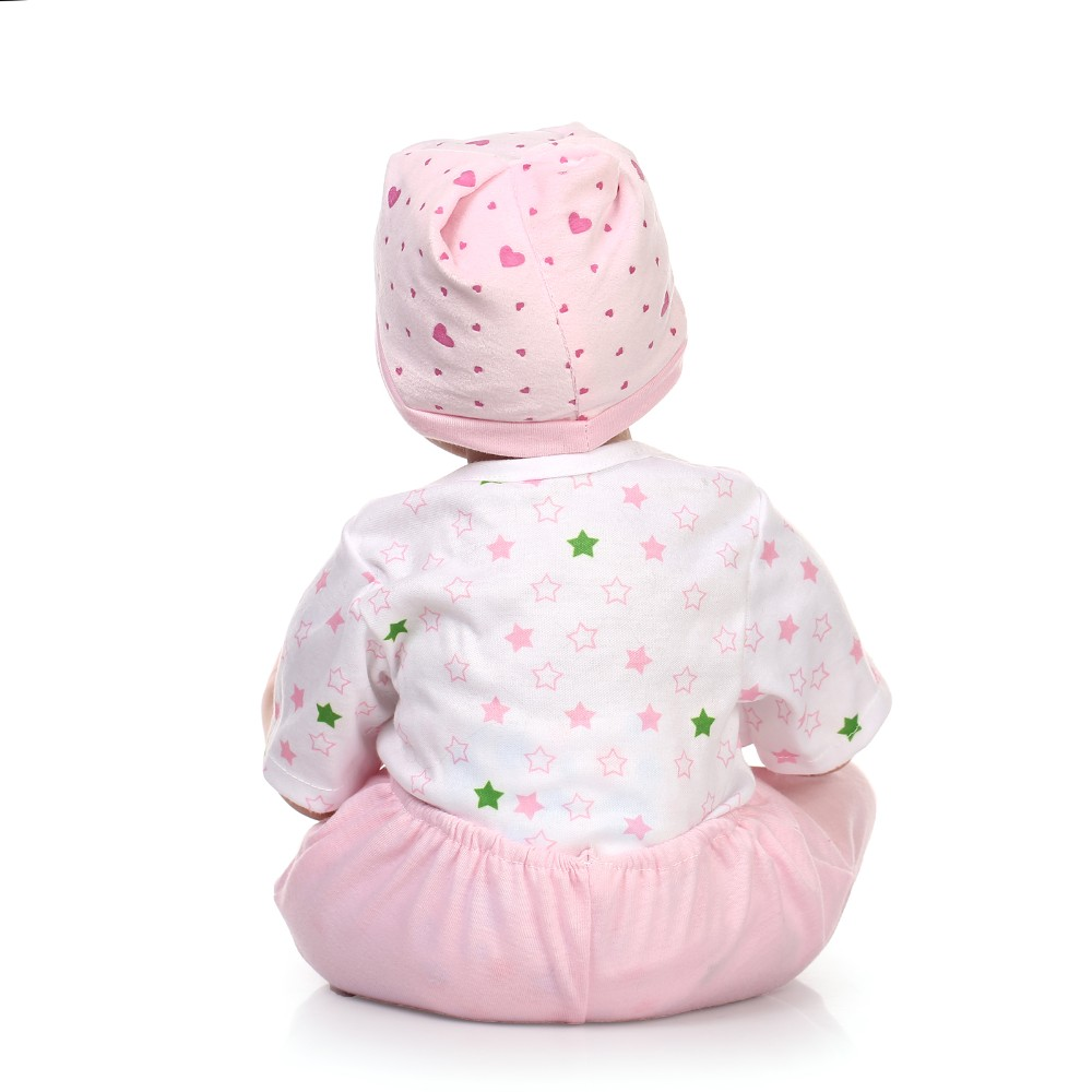 22inch 55cm reborn baby doll lovely close eye baby doll silicone vinyl soft real touch lifelike newborn baby Christmas gifts 55 cm 22 inch silicone reborn baby doll soft vinyl girls christmas baby toys birthday gifts