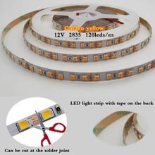 Flexible LED Strip light 5M DC 12V2835 SMD  120 Leds/m NO-Waterproof white/warm white/Natural White/blue/Ice blue/golden yellow