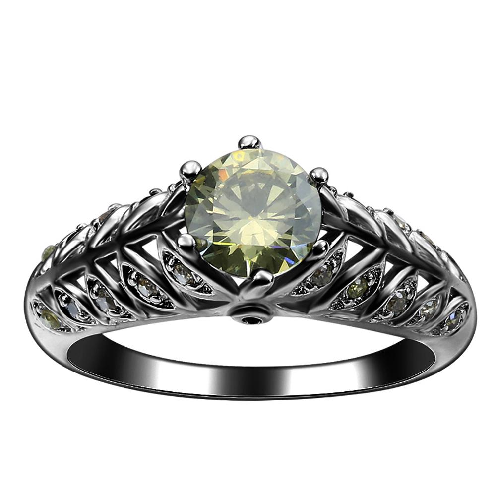 negro fina cz joyera finger band regalo de boda de la vendimia mujeres precioso modelo special