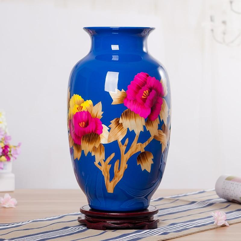 Modern Jingdezhen Ceramic Vase Wheat Straw Vase Christmas