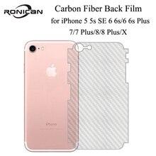 5 Pièces iPhone 6 6s 7 8 Plus 5s Pleine Couverture 3D Anti empreintes digitales Arrière En Fiber De Carbone Film Protecteur Décran Pour iPhone X XR XS 11Pro Max