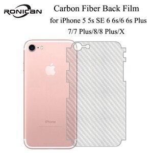 Image 1 - 5Pcs iPhone 6 6s 7 8 Plus 5s Full Cover 3D Anti fingerprint Carbon Fiber Back Screen Protector Film For iPhone X XR XS 11Pro Max