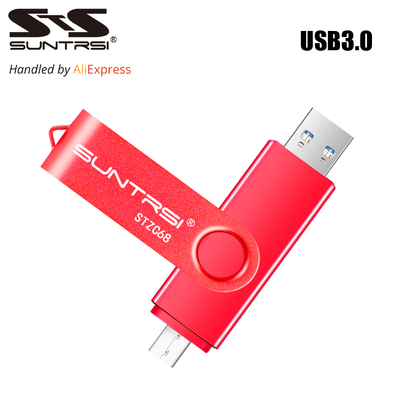 Suntrsi USB Flash Drive OTG USB 3.0 External Storage Pendrive 16GB 32GB USB Stick High Speed Pen Drive for Android USB Flash цена