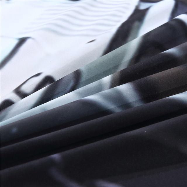 BLACK SKULL PISTOL 3D BEDDING SET